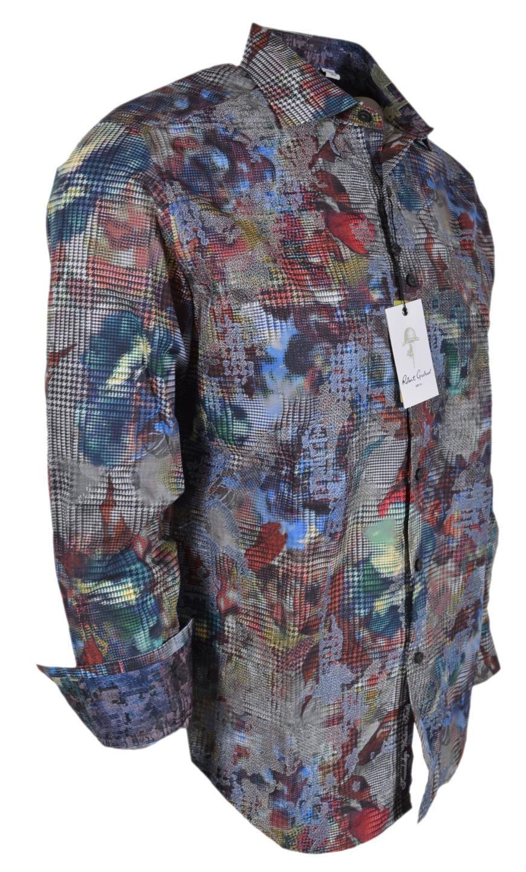 NEW Robert Graham  BIG NOVA Embroidered Floral Plaid Classic Fit Shirt