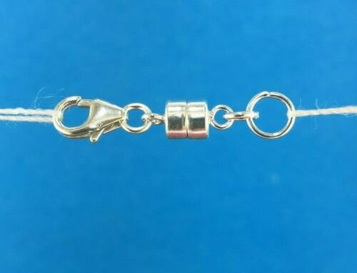 925 Sterling Silver Strong Mini Magnetic Clasp Converter Necklace or Bracelets