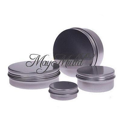 15/30/60/100/150ML Nail Art Lip Balm Tin Container With Screw Thread H