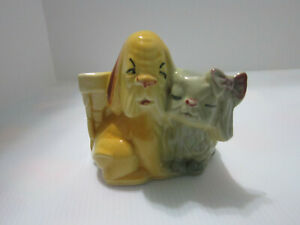 Shawnee-Pottery-Planter-611-Dog-amp-Cat-Planter-Vintage