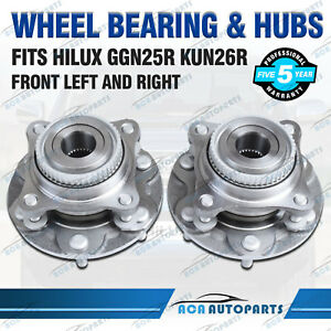 Pair-Fits-Toyota-Hilux-GGN25R-KUN26R-Front-Hub-Wheel-Bearing-Hubs-Assembly-05-15