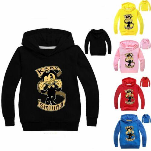 Bendy Hoodies Kids Boys Girls Pullover Tops Paw Patrol Jumper Hooded Tops XMAS