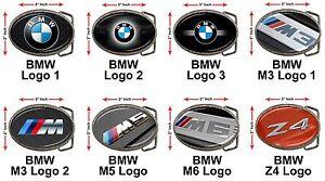 """BMW M3 M5 M6 Series Z3 Z4 E60 E90 X5 X6 Car Logo 3x2/"""" Chrome Belt Buckle Gift"""