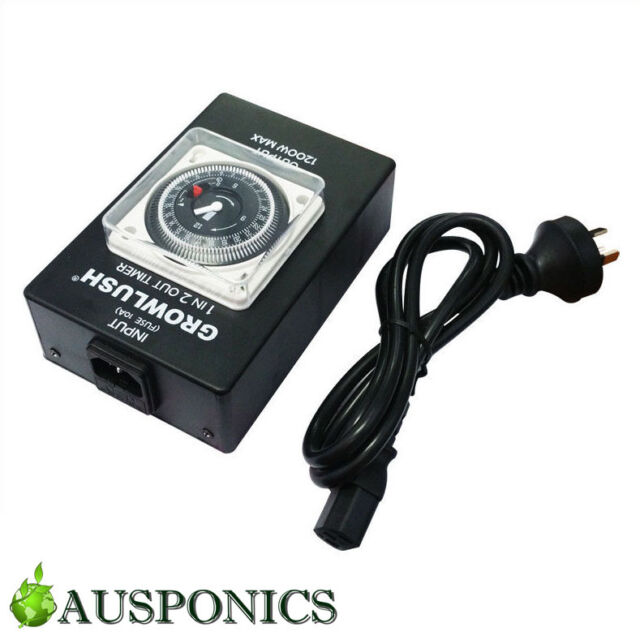2x TIMER BOX 2 - Heavy Duty Industrial Timer With 2 Outputs For Hydroponics