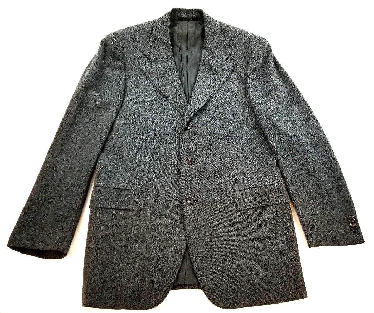 Hugo Boss Baldessarini Herren Anzug 100% Wolle Grau Italien 40L Taille 98 Msrp