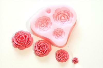 Silicone Rose Flower Mould, Sugarcraft Cake Decorating Making Fondant Icing Mold