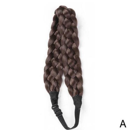 Synthetische Perücke geflochtenes Haarband Elastic Twist Princess Hair T0S9