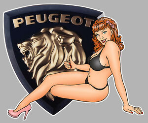 PEUGEOT-404-left-Pin-Up-Sticker-gauche