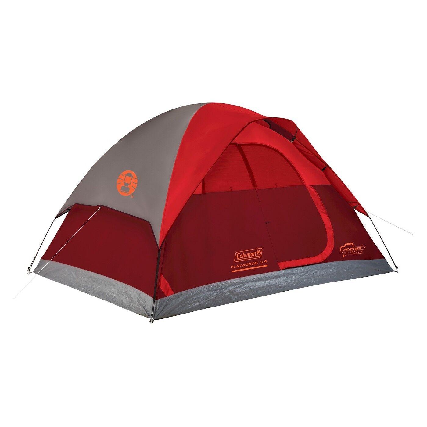Coleman Flatwoods II 4 Person Kuppel Zelt Wetter Tec 10 Minute Anordnung