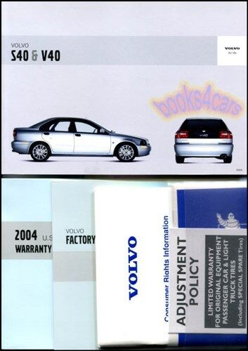OWNERS MANUAL S40 V40 VOLVO 2004 BOOK HANDBOOK T4 T5