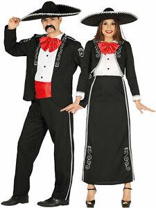Homme Femme Mexicain Mariachi Déguisement Espagnol Musciain Couples Tenue Ebay