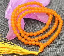 6mm Tibetan Buddhism 108  Brazil Topaz gem stone Prayer Bead Mala Necklace