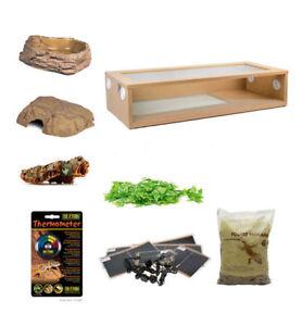 Details about Royal Python Extra Large Monkfield Vivarium Starter Kit - Oak  36 Inch Snake Wood