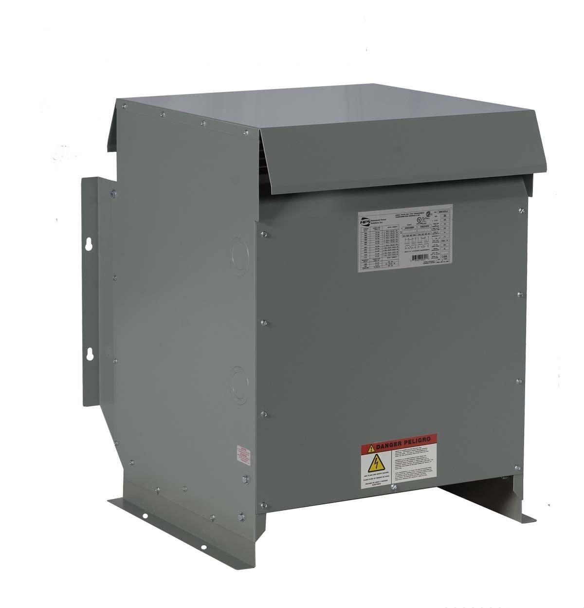 45kVA Dry Type Transformer 480 - 240 Volt, 3 Phase - New, NEMA 3R Enclosure