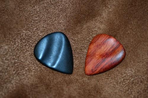 Ebony,Royal Blood Rosewood Picks Timber Tones Guitar Picks 2pk Groovy Tones