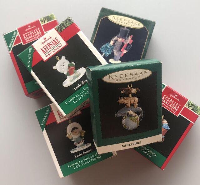 1990's Vintage Hallmark Keepsake Miniature Christmas Ornaments Lot (6) 90 95 99
