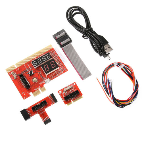 PCI//PCIE//LPC//EC Mainboard Diagnostic Analyzer Card Tester PC Notebook Red