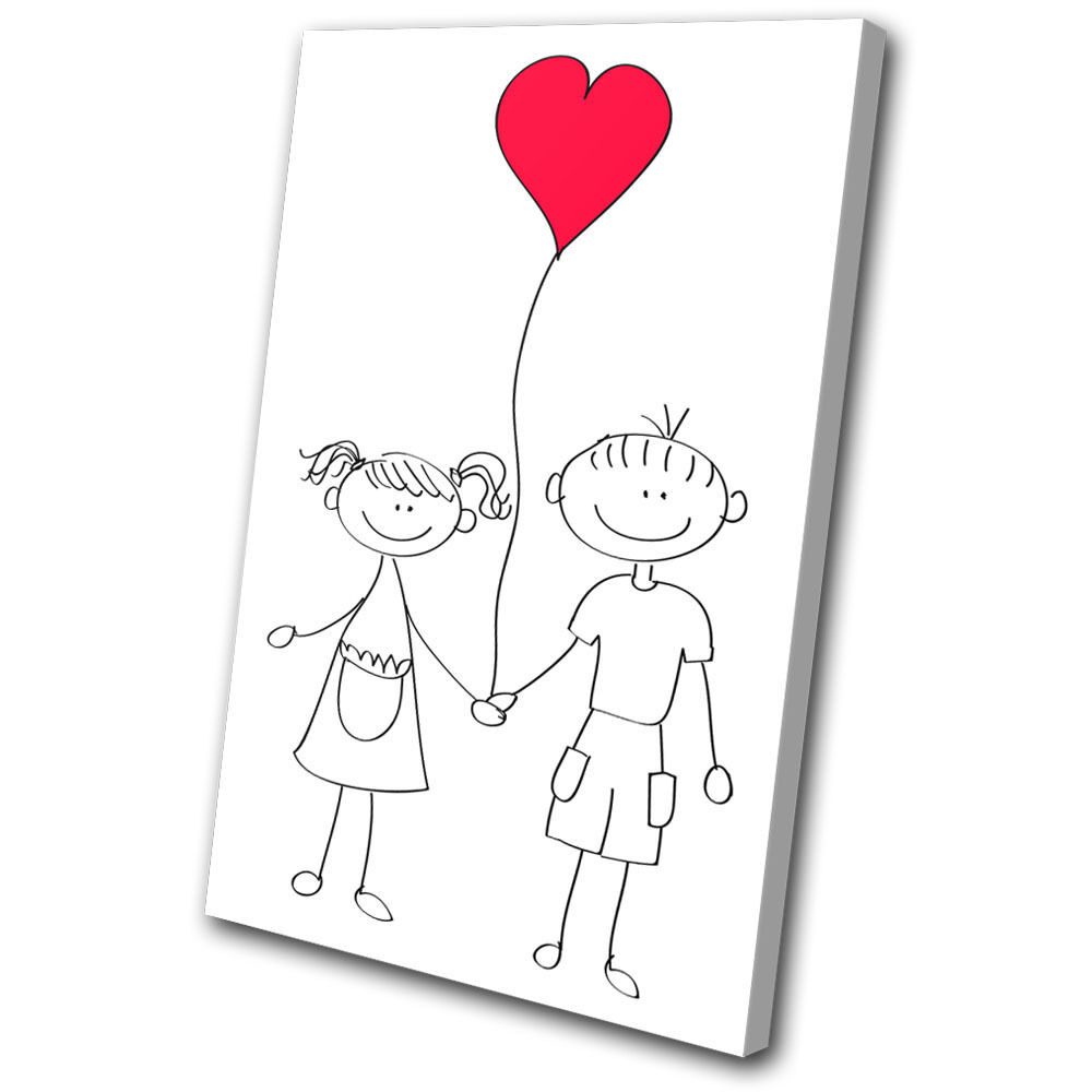 For Kids Room Girl Boy Balloon Cute SINGLE SINGLE SINGLE TELA parete arte foto stampa 513fc3