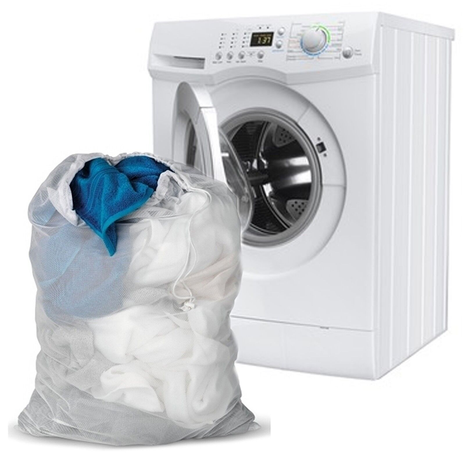 d12eccfb8bb5 Net mesh bag to protect delicate clothes laundry lingerie socks bra wash  machine