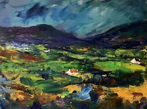 ORIGINAL-PAINTING-Acrylic-On-Canvas-Across-The-Valley-40x30cm