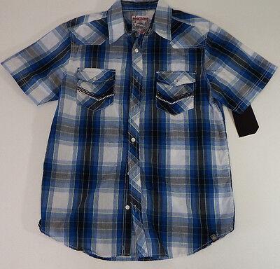 Men's Shirts Machine Custom Co  Blue Plaids Casaul Buttons