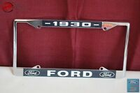 1930 Ford Car Pick Up Truck Front Rear License Plate Holder Chrome Frame