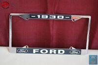 1930 Ford Car Pick Up Truck Front Rear License Plate Holder Chrome Frame