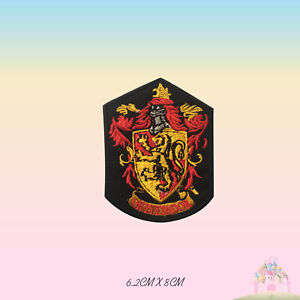 Harry-Potter-Gryffindor-Movie-Comics-Embroidered-Iron-On-Patch-Sew-On-Badge