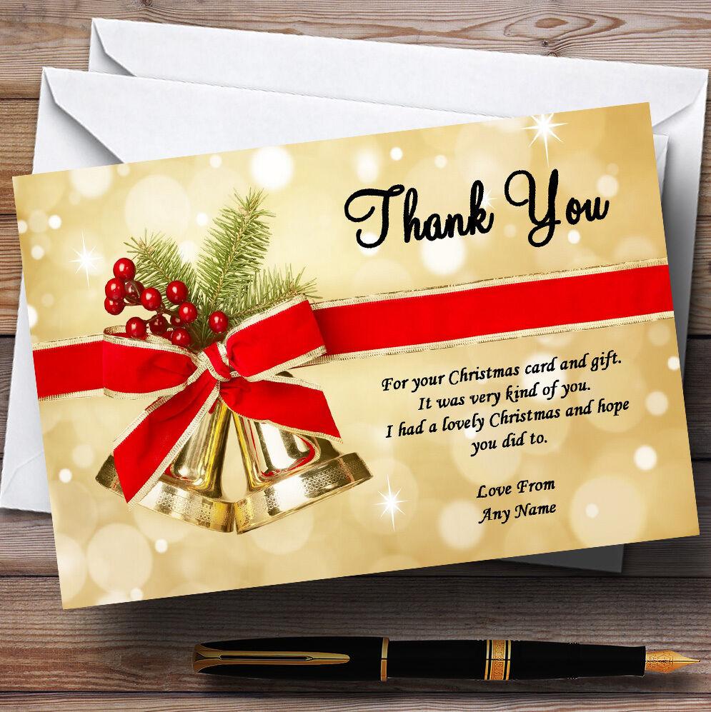 oroen Campanas Personalizado Fiesta De Navidad Tarjetas De Agradecimiento