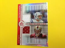 2005 Reflections Peyton Manning Alex Smith dual jersey card  jsy gu   Colts