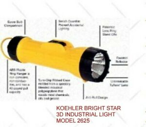 FLASHLIGHT-KOEHLER-BRIGHT-STAR-USES-3-D-BATTERIES-RECEIVE-3-EACH