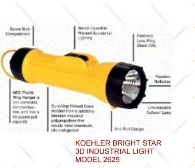 2D-CELL BUY 1 GET 1 FREE BRIGHT STAR INDUSTRIAL FLASHLIGHT
