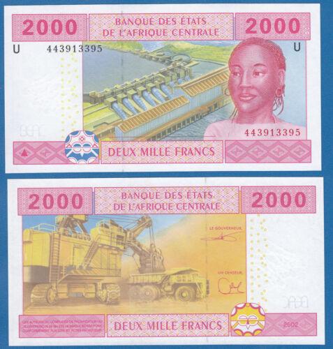 Central African States 2000 P 208U Cameroun 2002 UNC New Signature CAS P-208 U