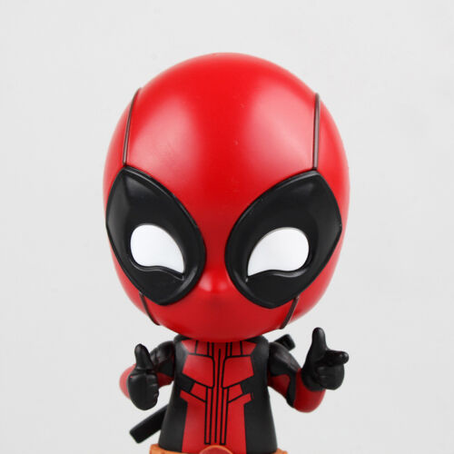 Cute Deadpool Finger Heart Shaking Head Doll PVC Action Figure Collectible Toys
