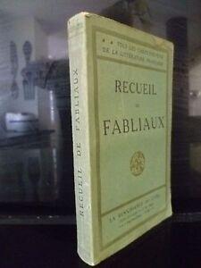 Recueil De Fabliaux La Renacimiento de La Libro J. Gillequin París SD IN 16