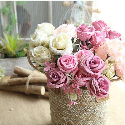 Künstliche Blumenstrauß Seidenblumen 6Köpfe Gänseblümchen Kunstblumen Dekor