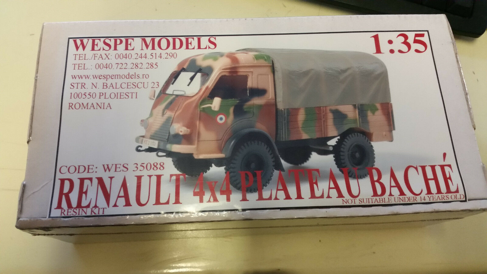 Renault 4x4 Plateau Bache Wespe Resin Models 1 35 Wes 35088