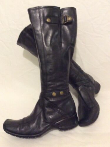 High Leather Clarks Boots Knee 5d Black Size 5 Eq771RawS