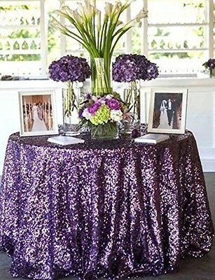 "72"" Round Sequin Tablecloth Sequin Table Overlay For Wedding/Event/Party/Banquet"