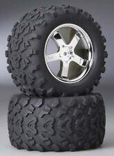 "Traxxas 4973R 3.8""Tire & Wheels (2) T-Maxx Revo S-Maxx E-Maxx Summit"