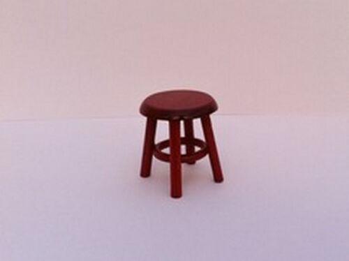 Casa delle Bambole in Miniatura Doll House Furniture posti a sedere 1//12 H-37mm Sgabello IN MOGANO