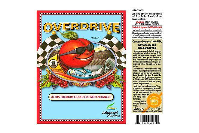 Nutrientes AVANZADOS Overdrive 4 L