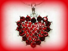 RED HEART NECKLACE~ROMANTIC VALENTINES DAY GIFT FOR HER WOMEN GIRLFRIEND WIFE
