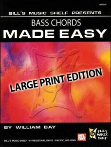 Diplomatique Bass Chords Made Easy Large Print Edition Guitar Chord Book Same Day Dispatch-afficher Le Titre D'origine Belle Et Charmante