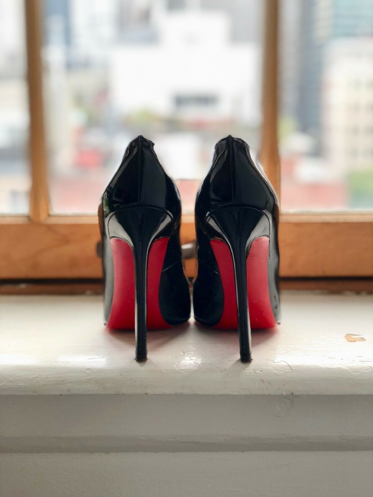 Christian Louboutin Pigalle 120mm Black Patent Leather Leather Leather 37 322dfa