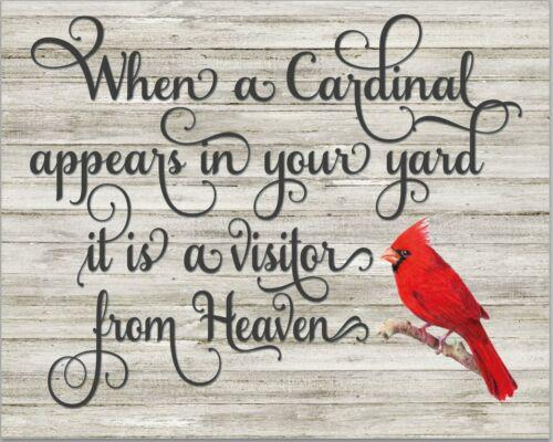 "Cardinal Angel Saint Heaven on Professional Canvas 10/"" x 14/"""