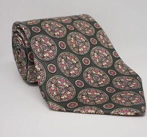 Yves Saint Laurent Krawatte Grau Ornamente 150x9.5 cm 100% Seide -38