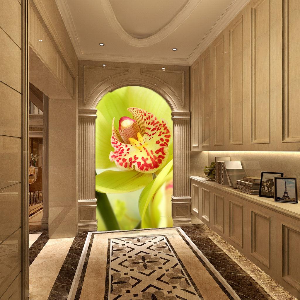 3D Fleur Frache 6 Photo Papier Peint en Autocollant Murale Plafond Chambre Art