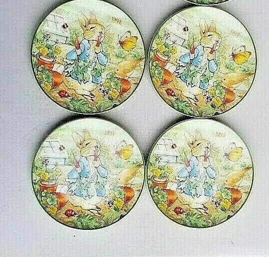 4 Williams Sonoma Peter Rabbit Salade Dessert Assiettes S 4 en Grès NEUF
