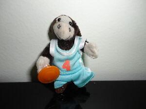 Miniature Dolls Monkey Basketball Player & Lady Bear in Bathrobe FV Toys RARE